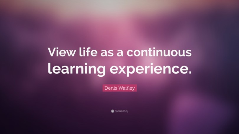 experience sayings view life as a continuous learning experience