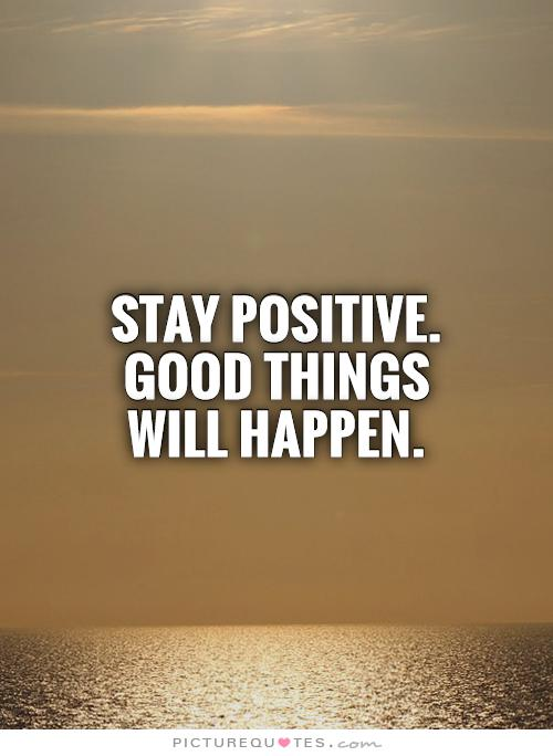 stay sportive good things will happen.