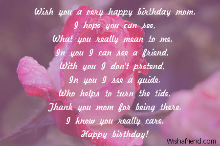 wish you a very happy birthday mom i hope you can see...