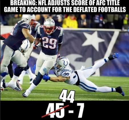American Football Meme Breaking nfl adjusts score of afc title game to account