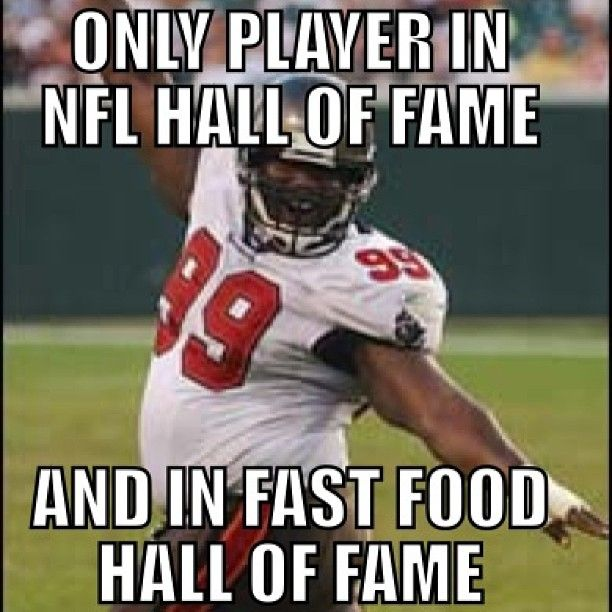 American Football Meme only player in nfl hall of fame and i fast food hall of fame