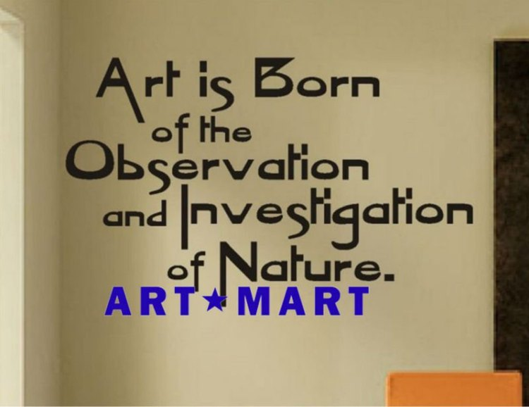 Art quotes art is born of the observation and investigation