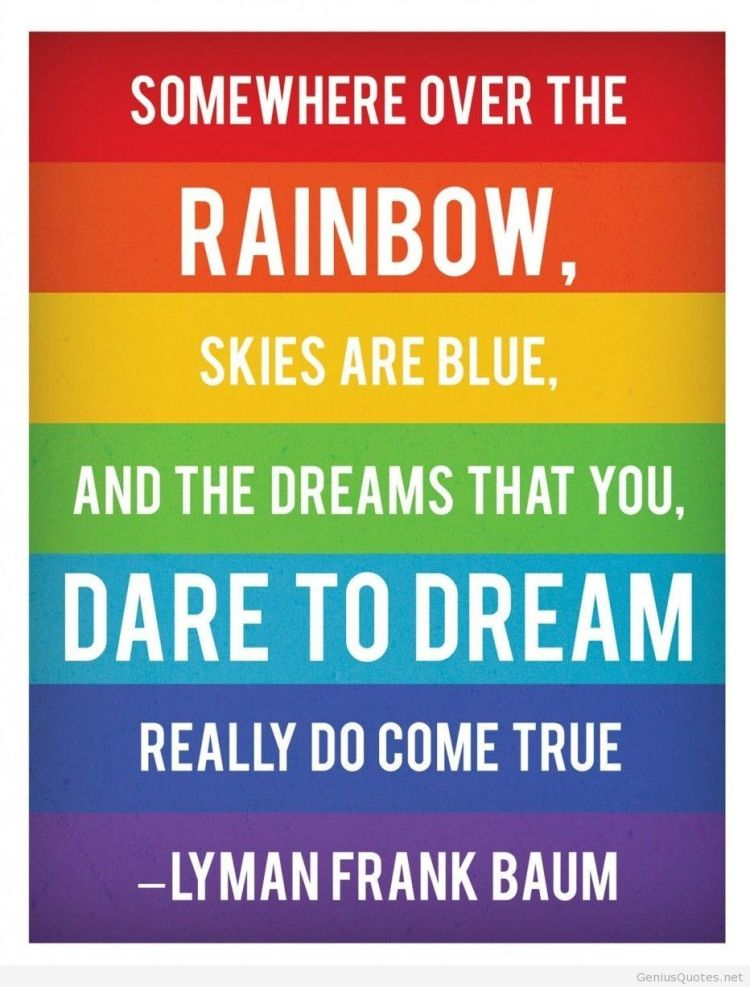 Art quotes somewhere over the rainbow skies are blue