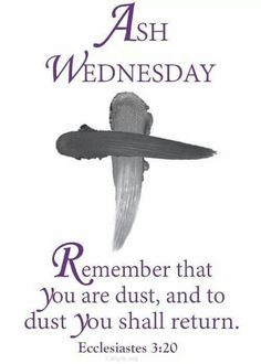 Ash Wednesday Prayer