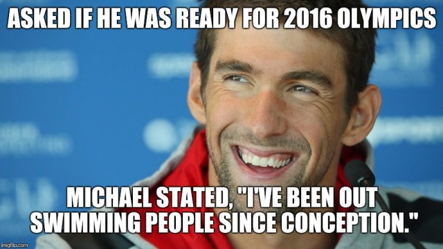 Asked if he was ready for 2016 olympics Meme