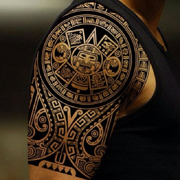 Beautiful Aztec Tattoo on arm For boys