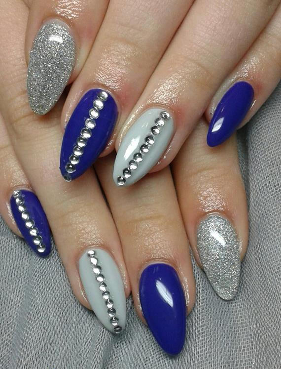 Best Blue And Silver Nails (2)