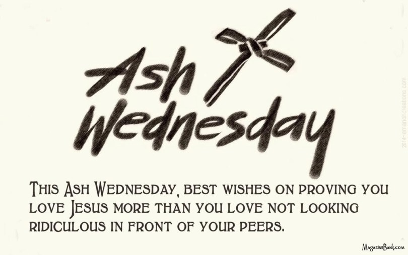 Best Wishes Ash Wednesday Message