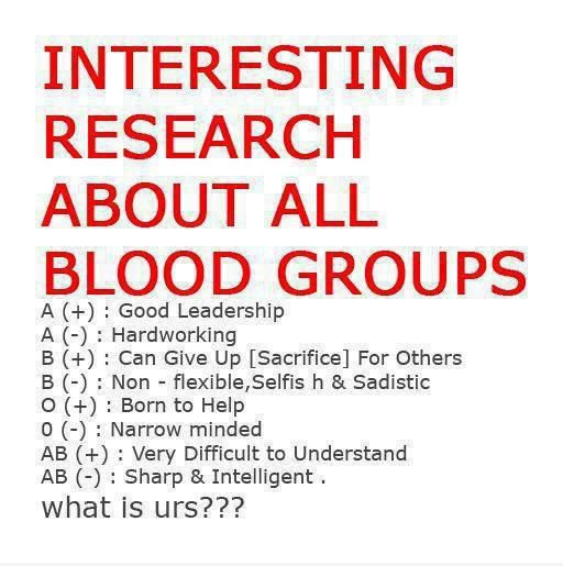 Blood Gang Quotes interesting research about the blood groups