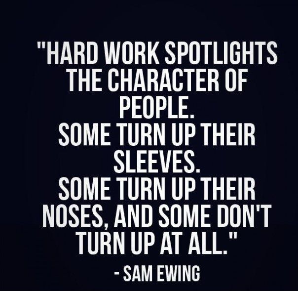 Business Quotes hard work spotlights the characters of people some turn up their sleeves