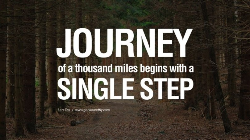 Business Quotes journey of a thousand miles begins with a single step