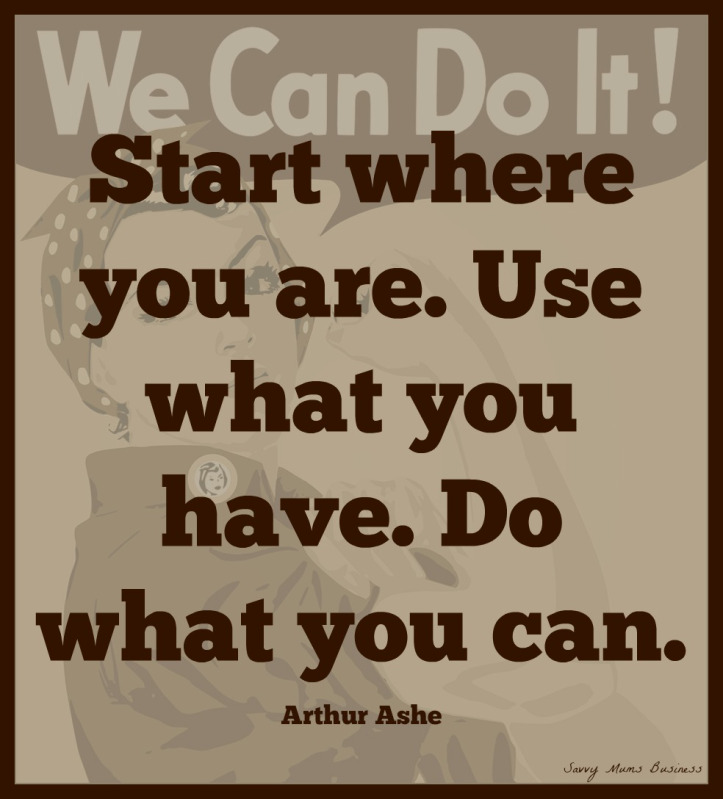 Business Quotes start where you are use what you have do what you can
