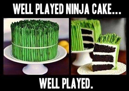 Cake Memes Well played ninja cake well played.