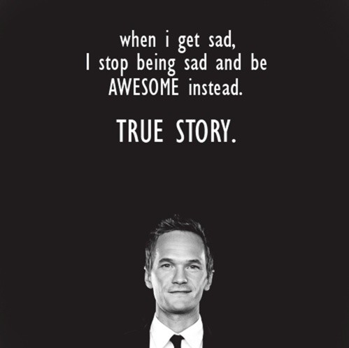 Celebrity sayings when i get sad i stop