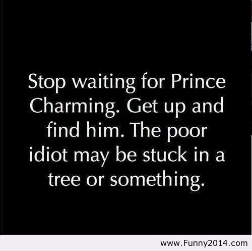 Charming Quotes stop waiting for prince charming get..