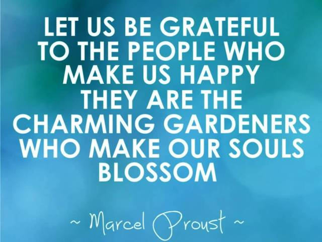 Charming sayings let us be grateful to the people who make us happy