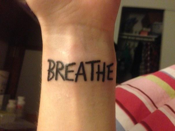 Custom Depression Tattoo On Arm For Boys