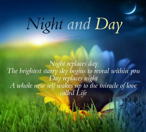 Day Quotes night and day night replaces day