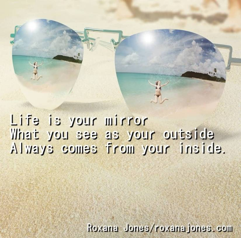 Day sayings life is our mirror what you see as your outside