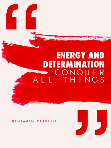 Determination Quotes energy and determination conquer
