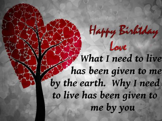 Determination Quotes happy birthday love what i need to live has been given to me by the earth why i need