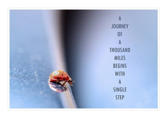 Determination sayings a journey of a thousand miles