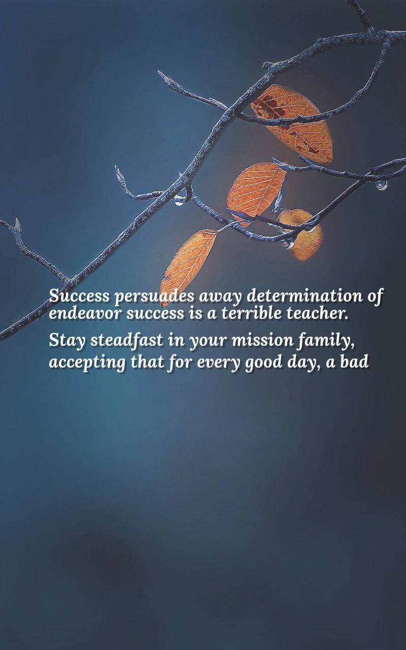 Determination sayings success persuades away