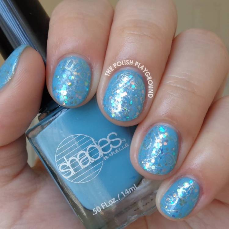 Fabulous Blue And Silver Nails