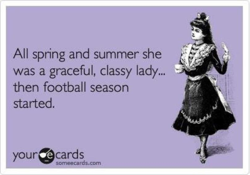 Football Meme all spring and summer she was a graceful classy lady