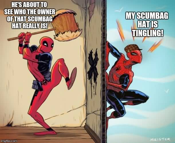 Funny Deadpool Meme He's About To See Who The Owner Of That Scumbag