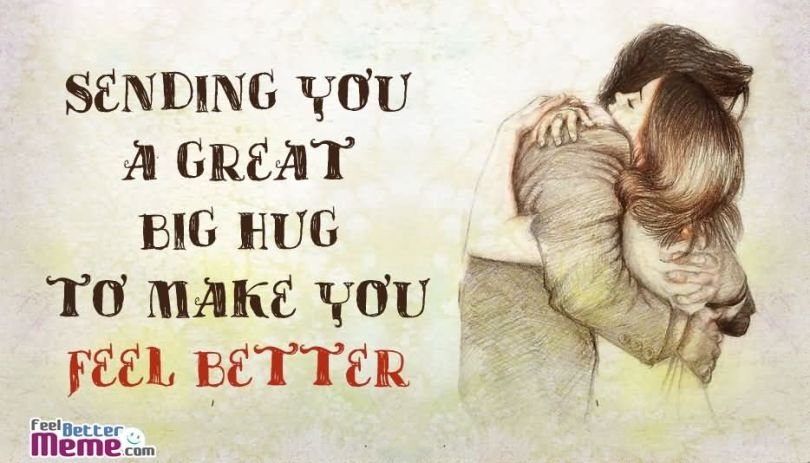 Funny Hug Meme sending you a great big hug to make you