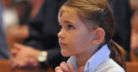 Girl Ash Wednesday Image