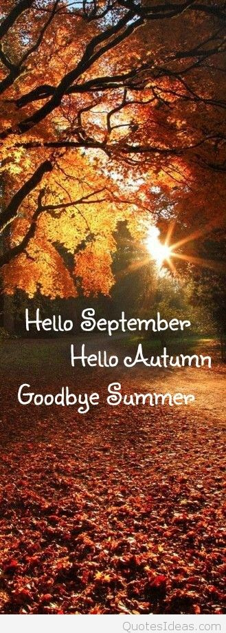 Goodbye Summer Quotes hello September hello autumn goodbye summer