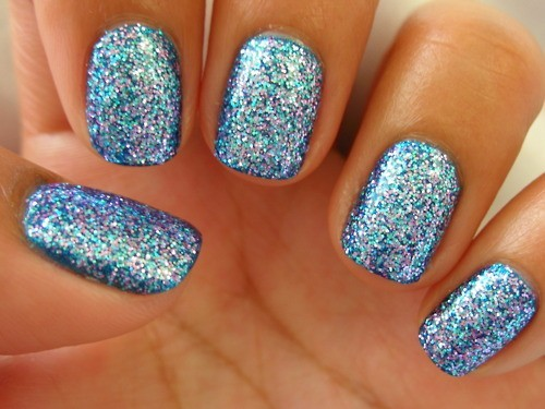 Greatest Blue And Silver Nails
