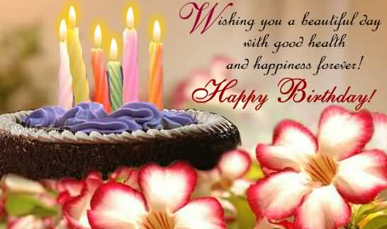 Happy Birthday Quotes wishing you a beautiful day with