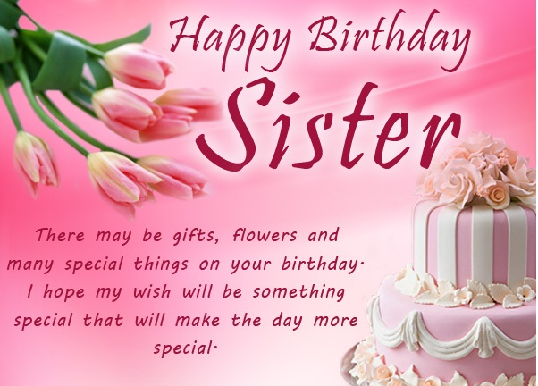 Happy Birthday Sayings happy birthday sister