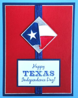 Happy Texas Independence Day Best Wishes Greetings Card Image