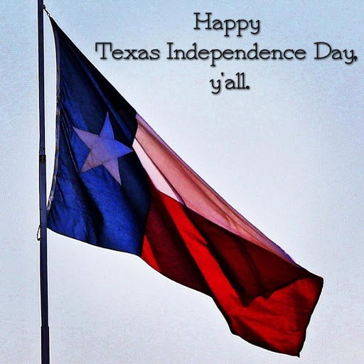 Happy Texas Independence Day Waving Flag Wishes Image