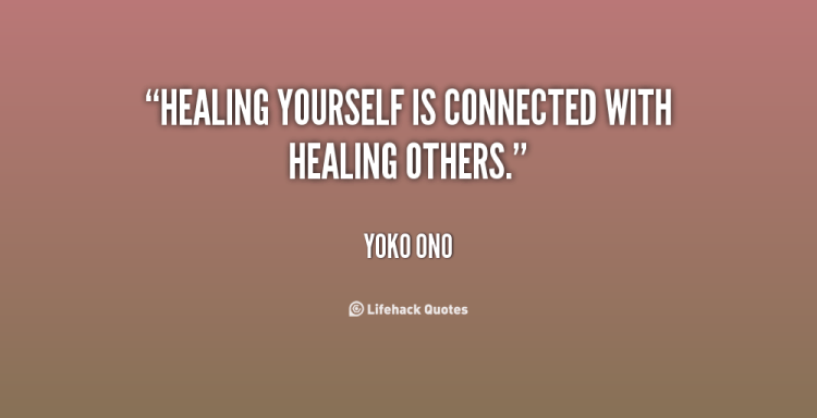 Healing Quotes healing yourself is connected with