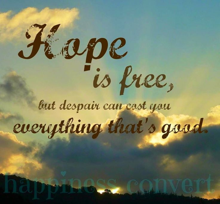 Hope Quotes hope is free but despair can cost you everything that good