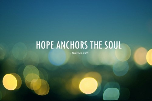 Hope Sayings hope anchors the soul