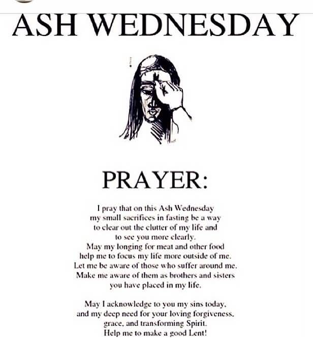 I Pray Ash Wednesday