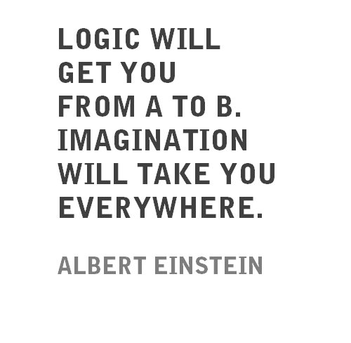 Imagination sayings logic will get you from a to b imagination will take you everywhere