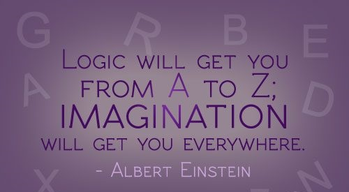 Imagination sayings logic will get you from a to z imagination will get you everywhere