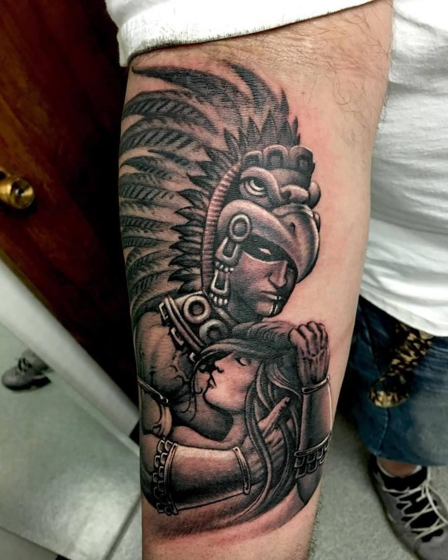17073394806a1 45 Energizer Aztec Tattoos Designs, Ideas & Images | Picsmine