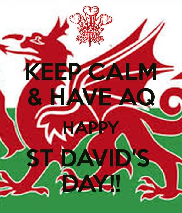 Keep Calm Happy St David's Day Wishes Image