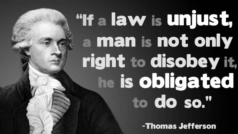 Legal Sayings if a law is unjust a man
