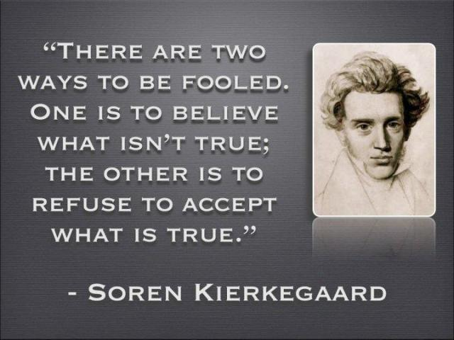 Misconception Sayings there are two ways to be fooled one is to believe what isn't true