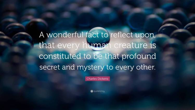 Mystery Quotes a wonderful fact to reflect upon that every human