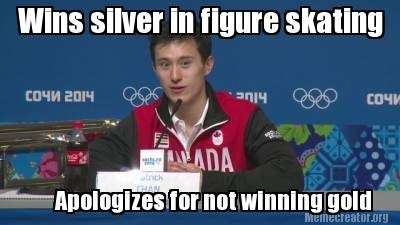 Olympics Meme wins silver in figure skating apologizes for not winning gold